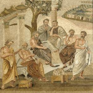 mosaïque de l'Académie de Platon